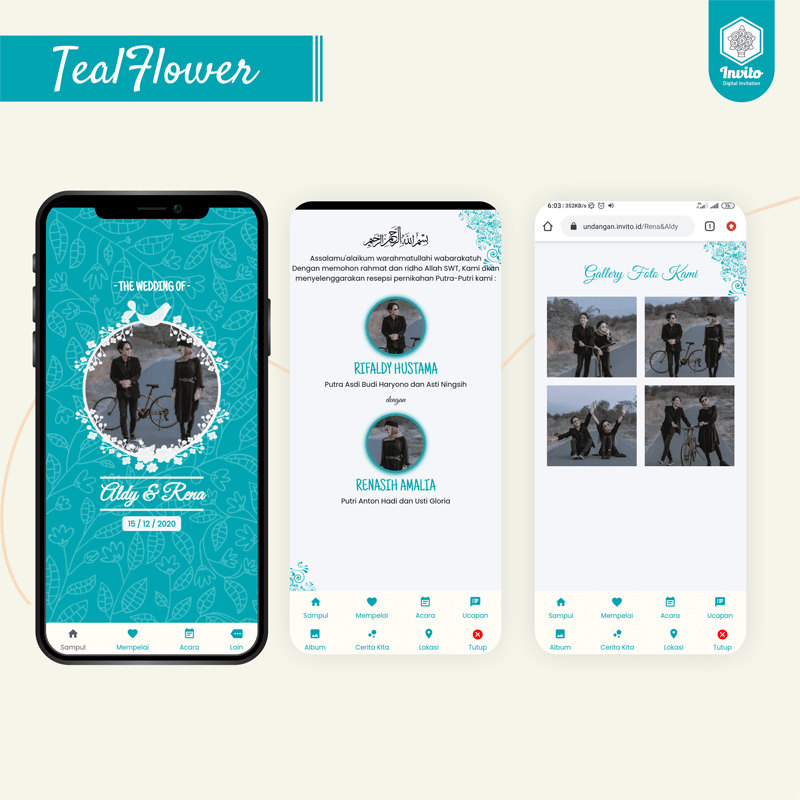 tealflower-undangan website