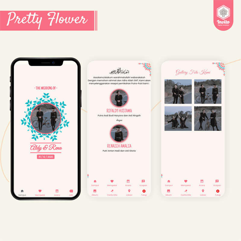 prettyflower-undangan website