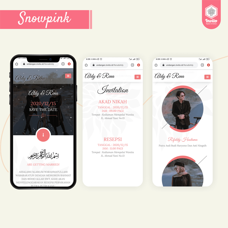 snowpink-undangan website