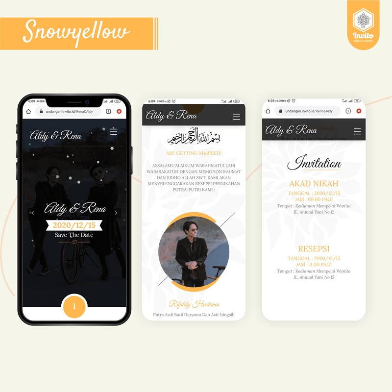 snowyellow-undangan website