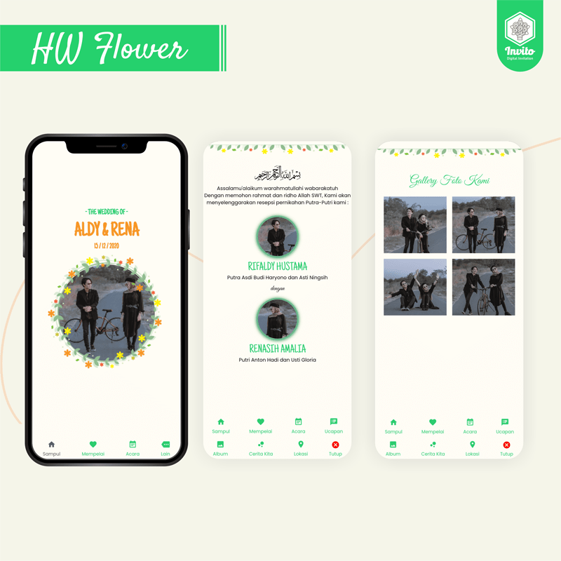 hwflower-undangan website